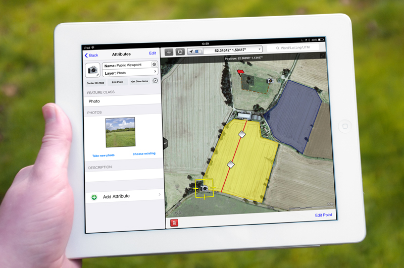 Access satellite imagery and map data offline using an iPad